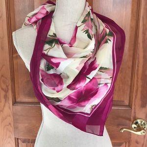 Adrienne Vittadini Silky Floral Scarf